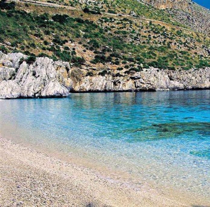 Beach of Zingaro Reserve close to the villa!!! :-P