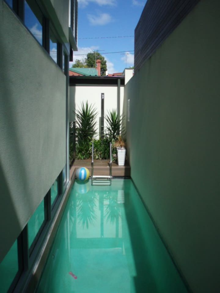 The lap pool.