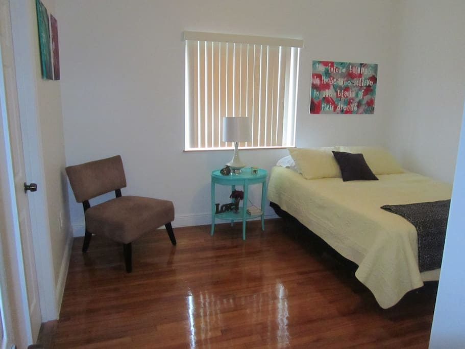 Spacious spare bedroom.  Personal Bathroom attached to room.