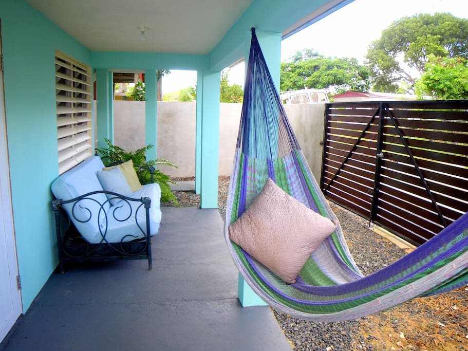 Comfy colorful hammock for afternoon naps