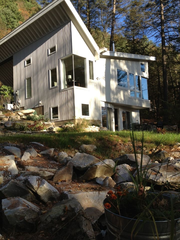Lower level Rock Garden apartment nestled in the pines at the foot of Monument Mountain.