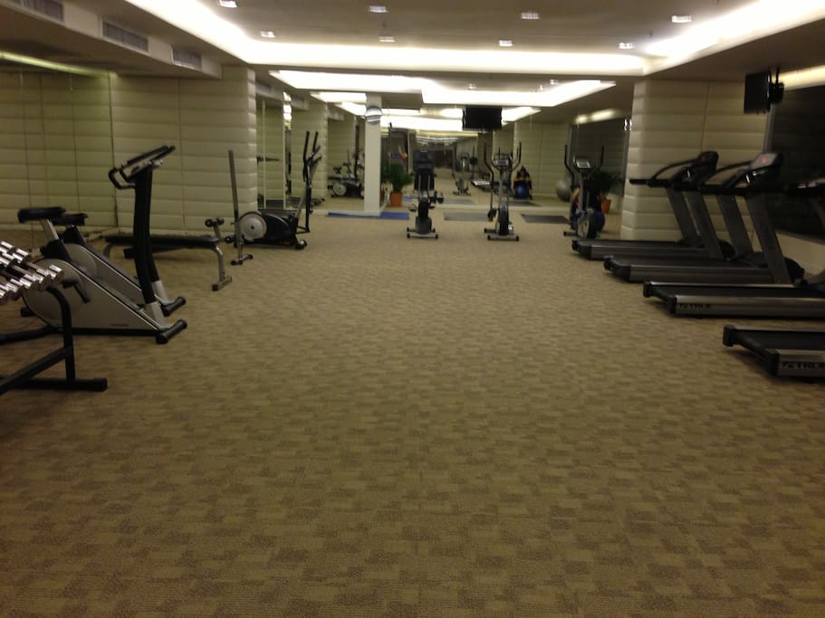 Air-conditioned fitness room (with TV).