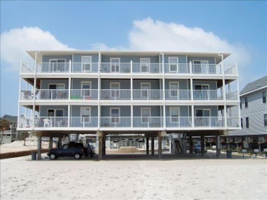 Sunchase a 36 unit family freindly complex with 36 units and covered parking right on the beach.
