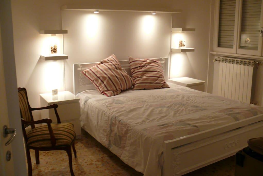 Night view of double bedroom