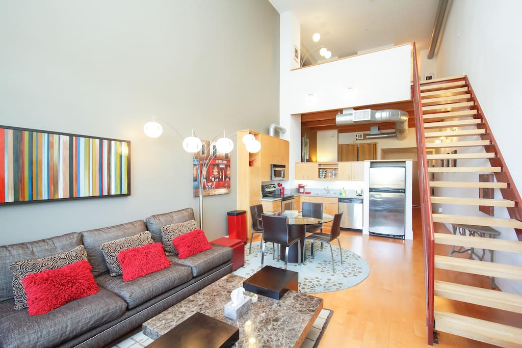 Santana Row Modern And Contemporary Loft Silicon V Lofts For Rent In San Jose