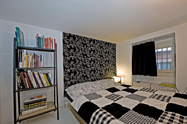Bed 190x140 cm. It in on loft.