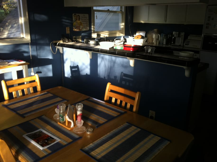 Dining and kitchen area...