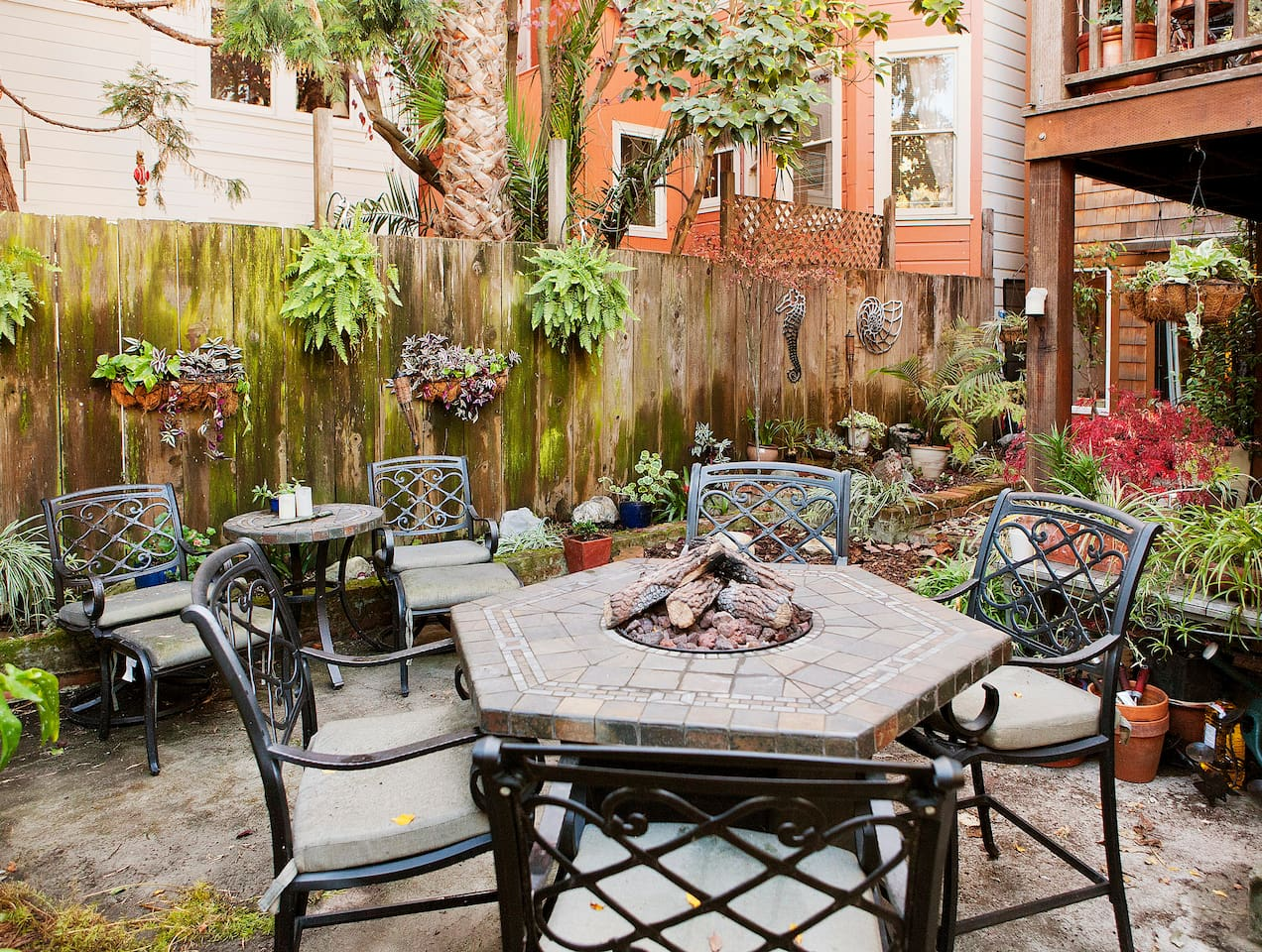 The Garden, Firepit Table and Small Table for 2
