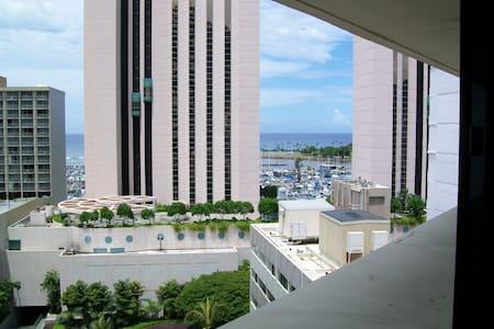 Partial Ocean View Waikiki Marina