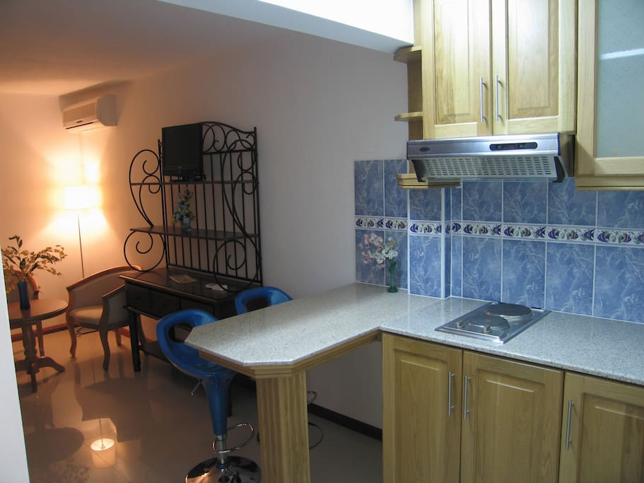 Kitchen Area Of Studio Apartment
