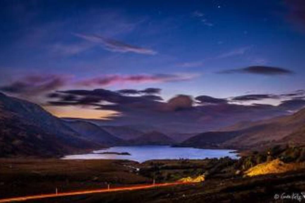 Lough NaFooy at dusk