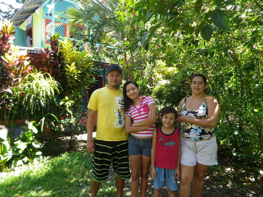 Your hosts - the lovely Hernandez Family! They will become your Costa Rican family