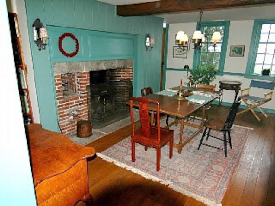 The hearth fireplace is second to none.  When being used, we move the chairs and table back a few feet.