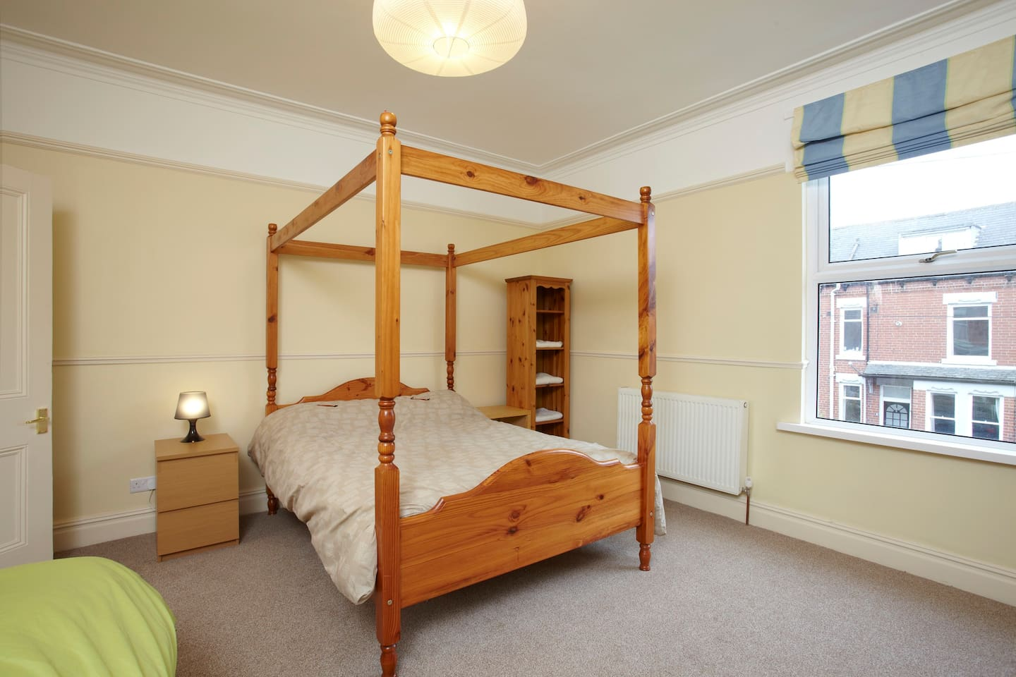 The Master Bedroom: four poster bed