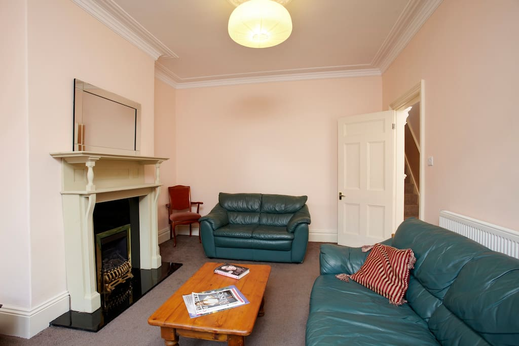 Living room with coal effect gas fire