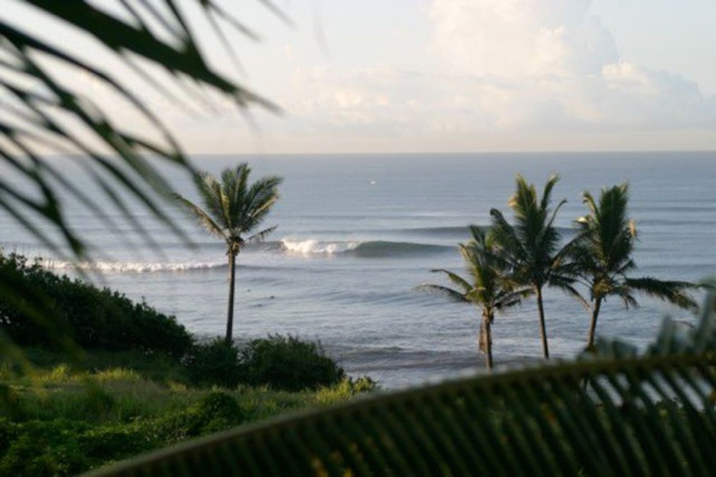view of the surf from one of the many lounge spots in the area.