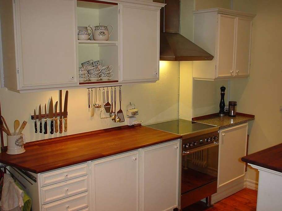 Kitchen with small area for eating