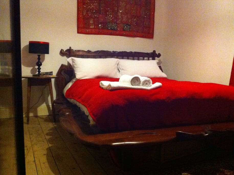 Your Bedroom - highlights...the bed handmade a gorgeous is a piece of art