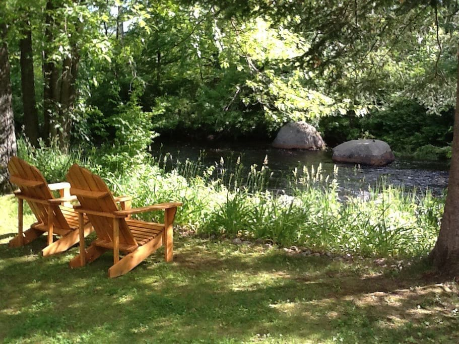 Could there possibly be a better place to relax than by the river in our Adirondack chairs?