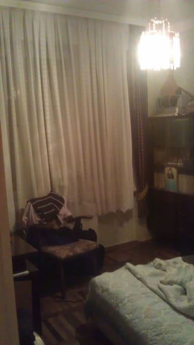 the room is about 15 Sq/M and can accomodate single person or a couple