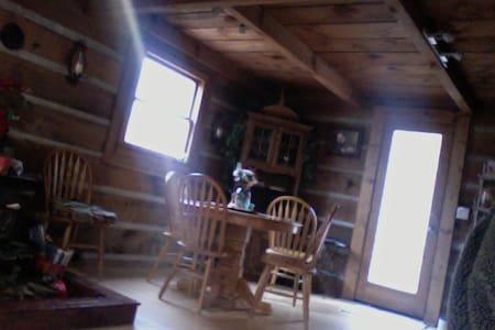 Cozy Downstairs Room in Log Cabin - Casa