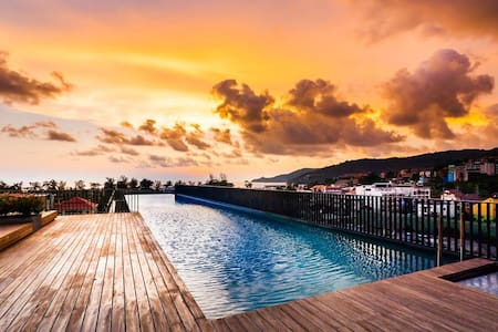 Mountain view luxury studio with pool & gym, central Patong - Wohnung