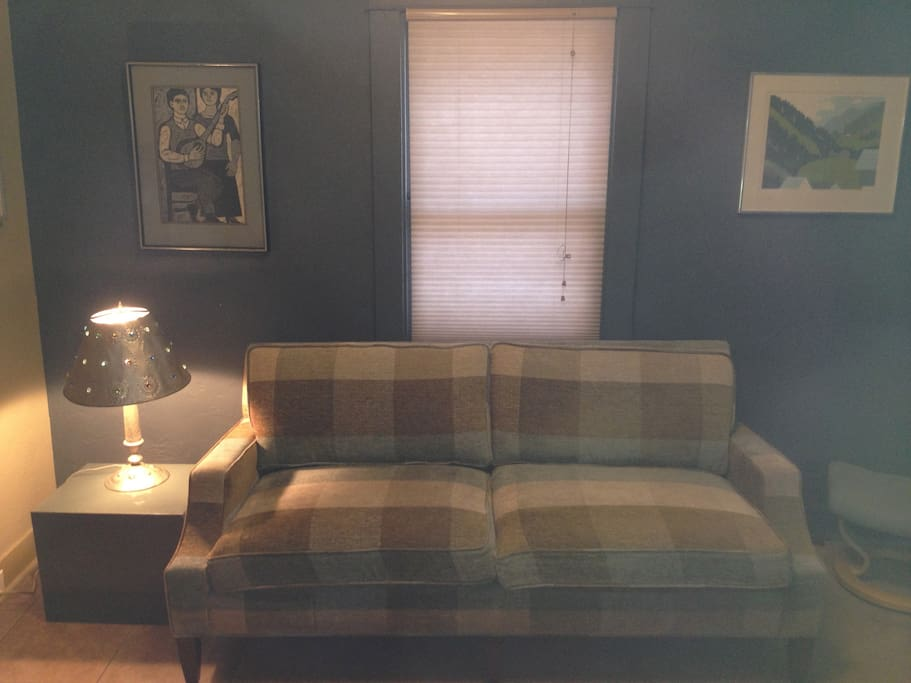 Loveseat in living area