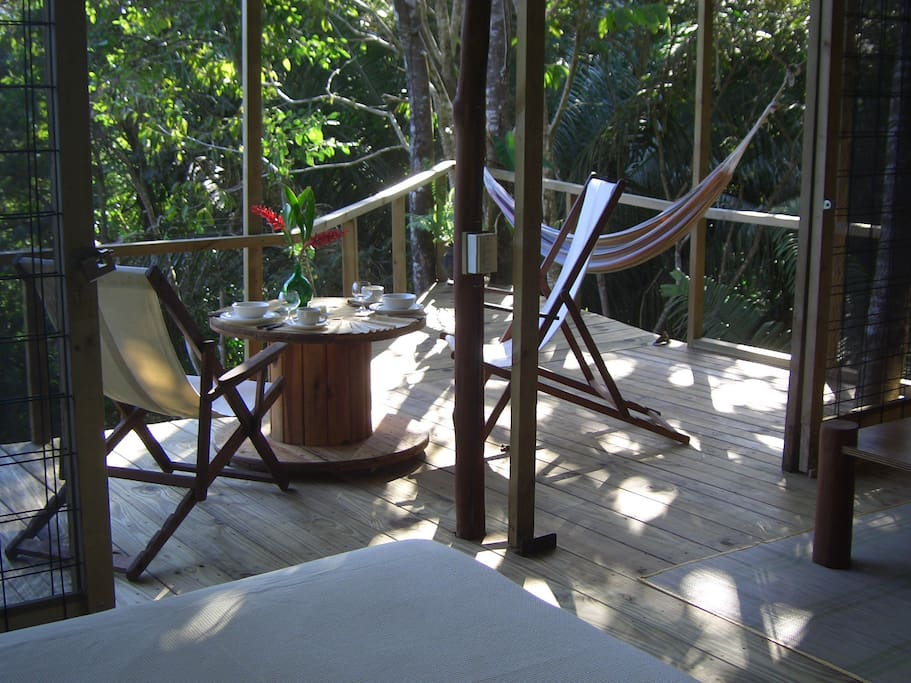 Full furnished porch, enjoy your siesta in the hammock