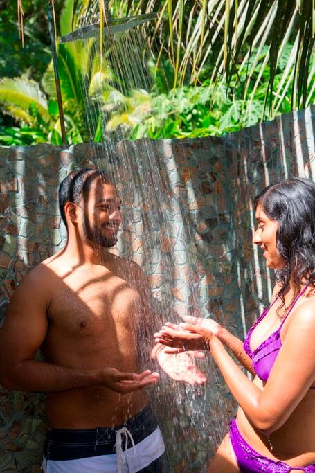 Private Romantic Outdoor shower