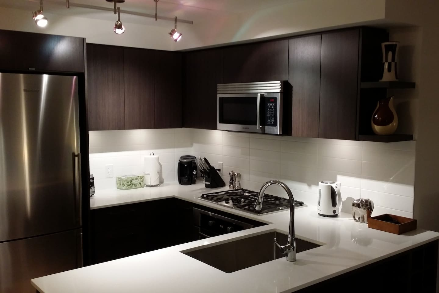 modern kitchen with stainless