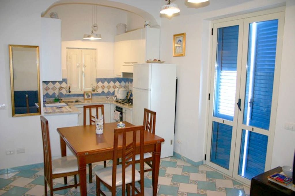 Kitchen of Holiday Apartment Marina Grande in Sorrento