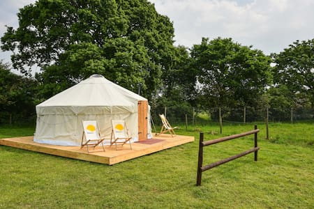 Luxury Yurt at Campsite next to Adventure Park - East Sussex