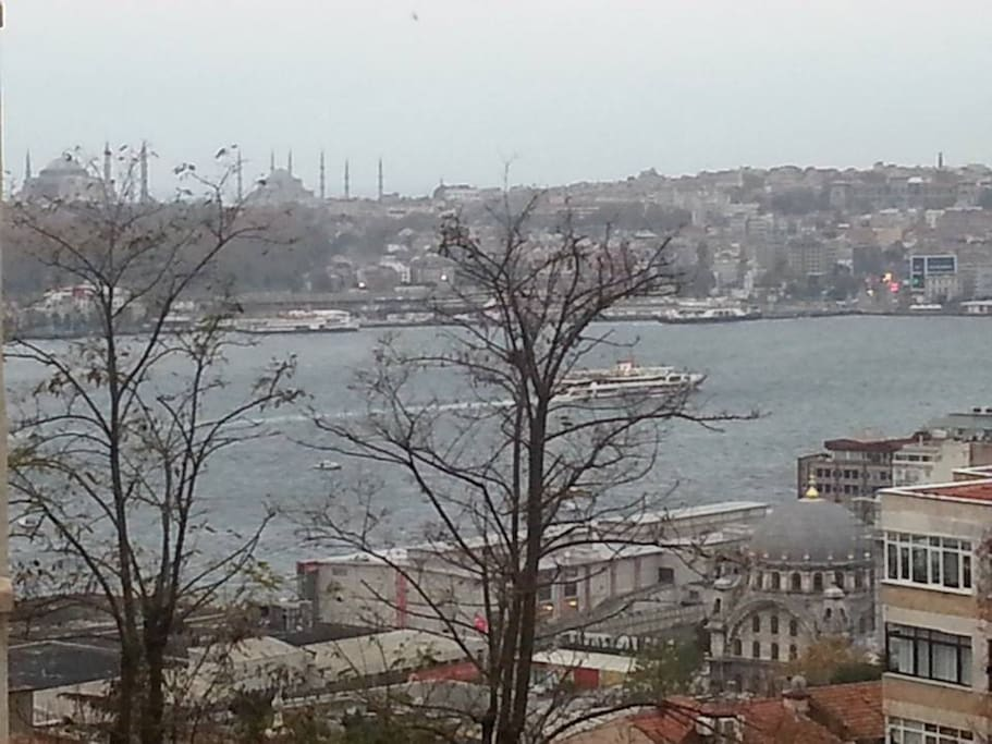 This is the view from the room. What u see other side is Hagia Sophia and the Blue Mosque.