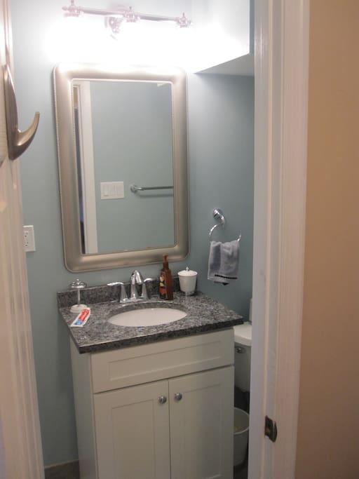 Sink of bathroom.