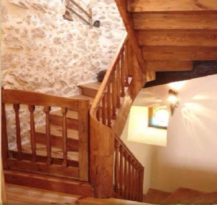 L'escalier de l'étage