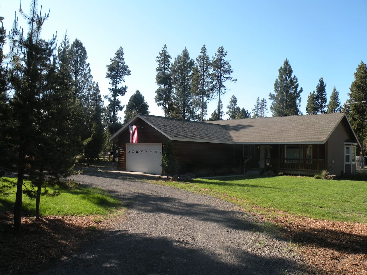 Front of Cabin with beautiful lawn