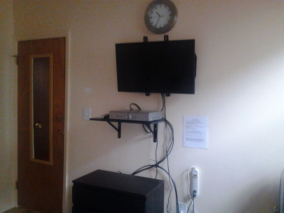 First bedroom w/ TV and basic DVR cable box. Directv cable Premier package.