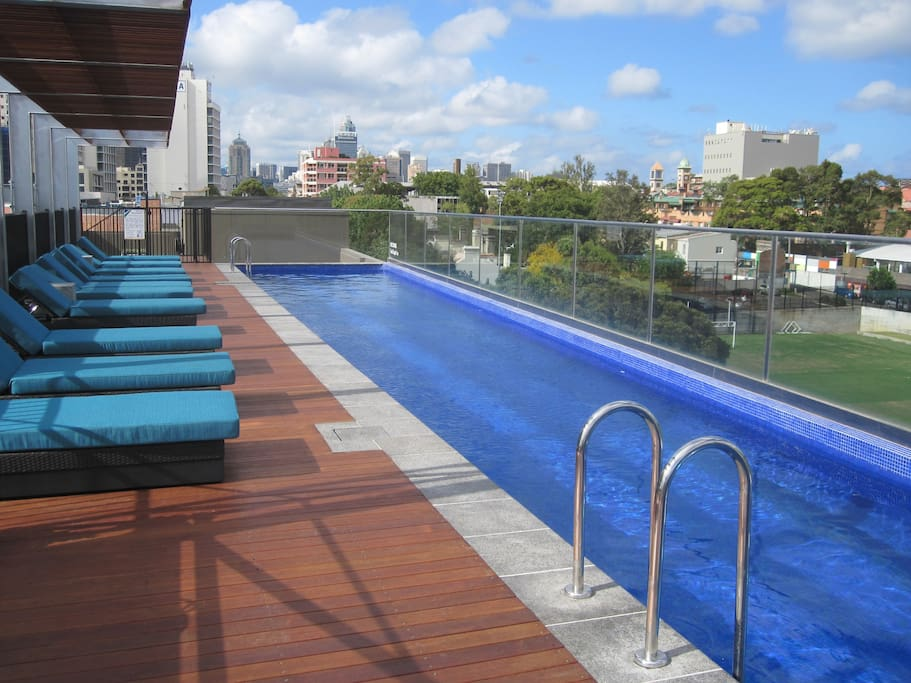 Enjoy an afternoon swim in the rooftop pool after a day sightseeing.