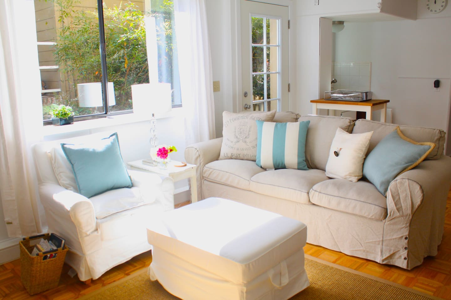 Beautiful & comfortable furniture with natural sunlight.