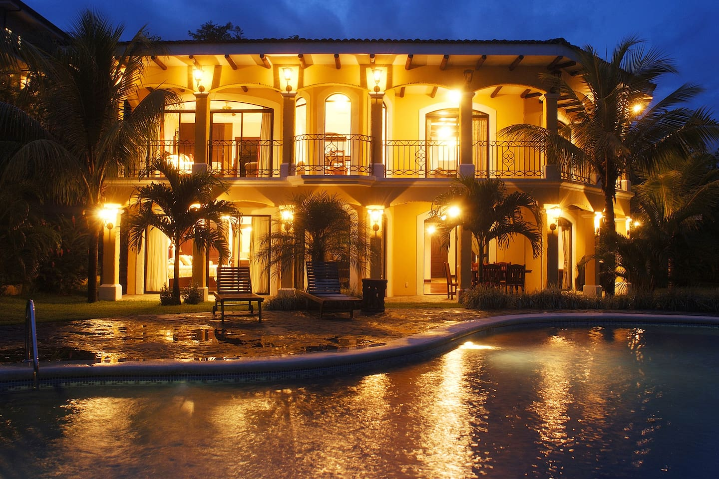 Outdoor, with private swimming pool