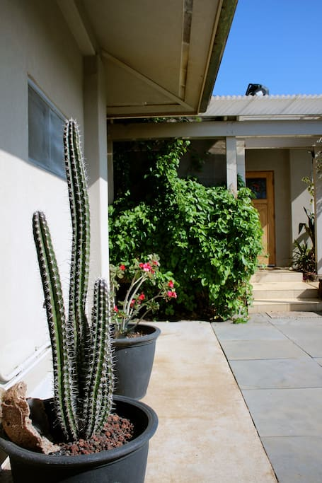 Gardens feature many varieties of cactus, tropical fruits and herbs.