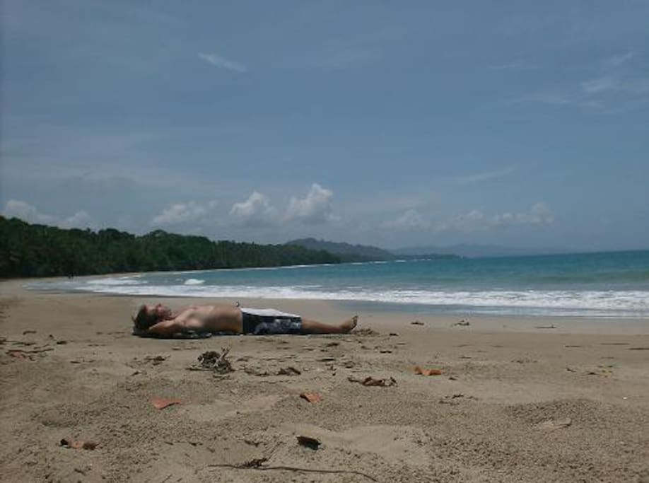 8km stretch of unspoiled beach on the Caribbean sea with a jungle backdrop