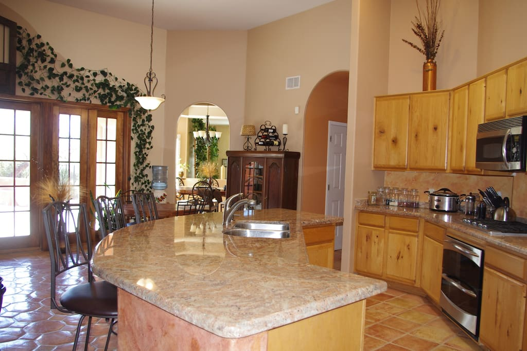 Enjoy full use of the expansive kitchen, living room, laundry facilities and more.