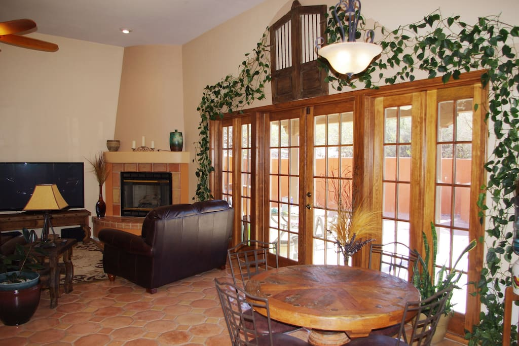 Outside these French doors you'll find a large patio to bask in Arizona's warm winter sun.