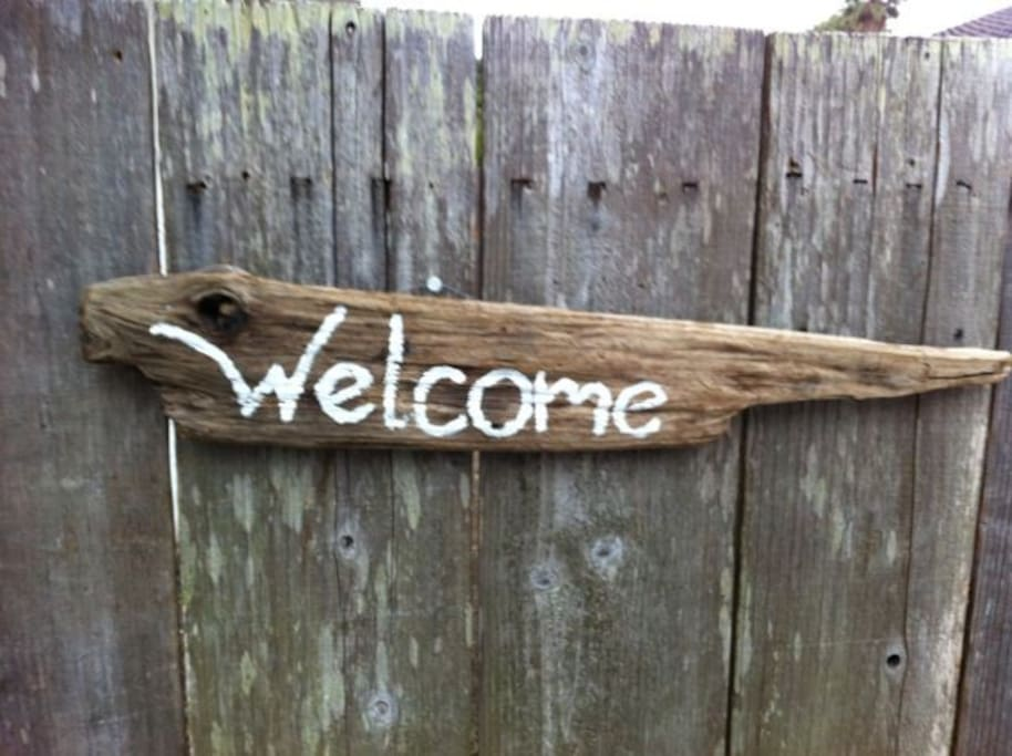Entrance to bungalow Welcome!