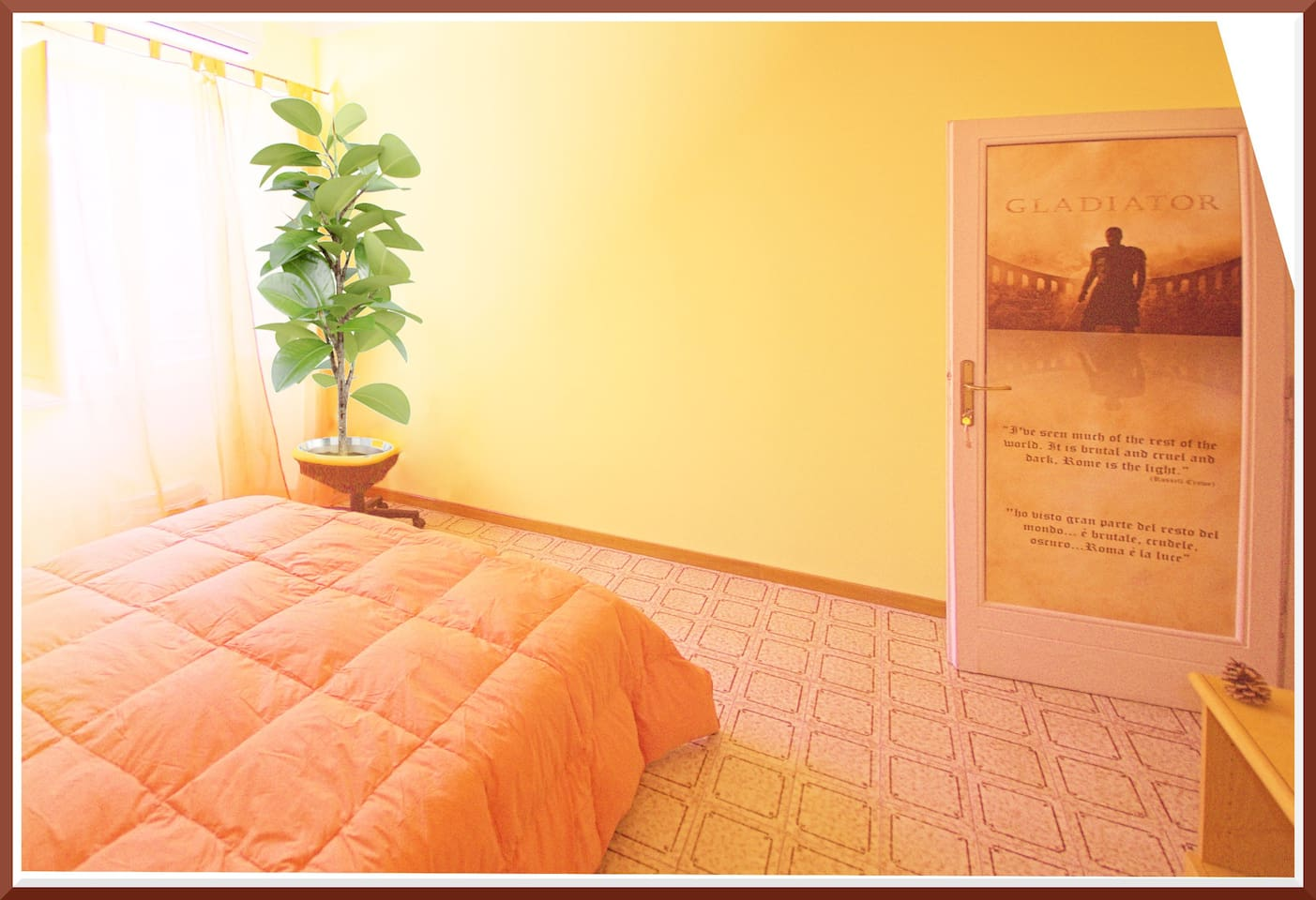 Bright double room, completely new and renewed!