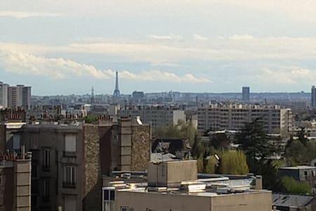 Bel appartement vue la Tour Eiffel - Enghien-les-Bains