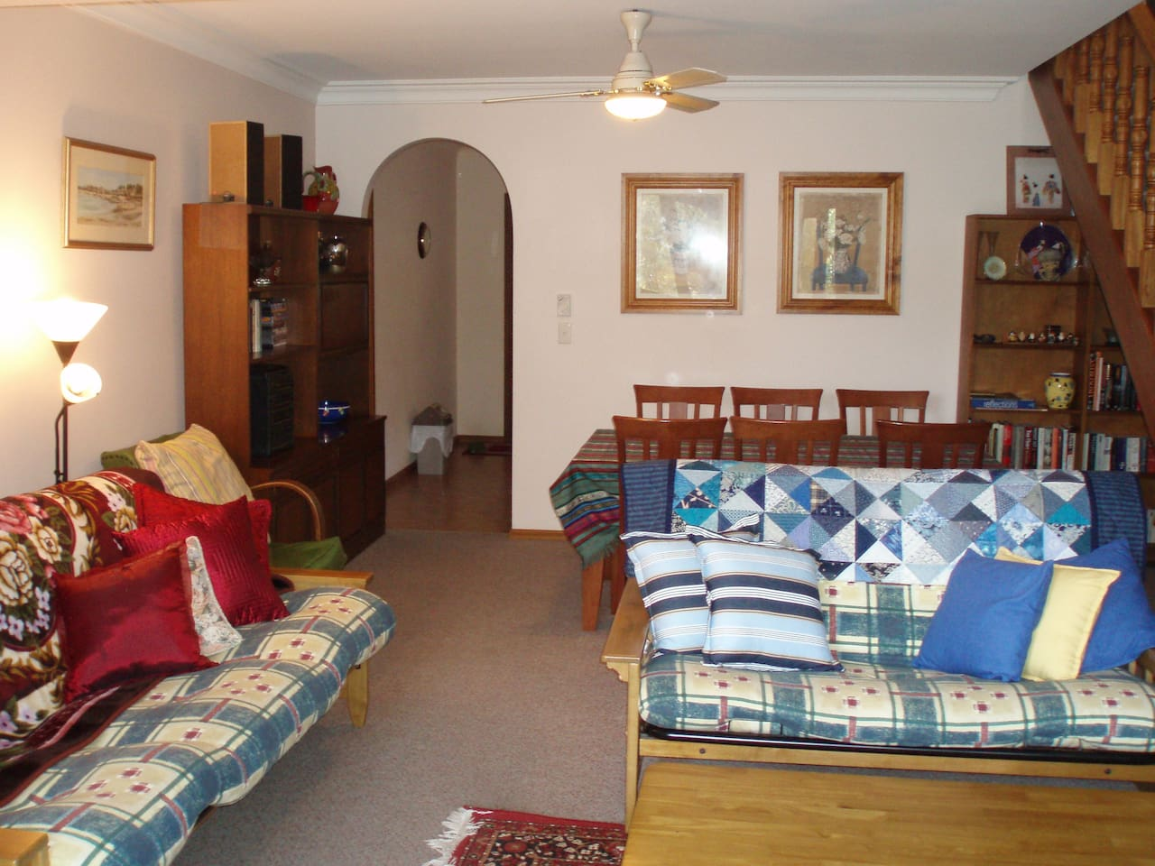 Spacious lounge and dining room with additional sleeping accommodation