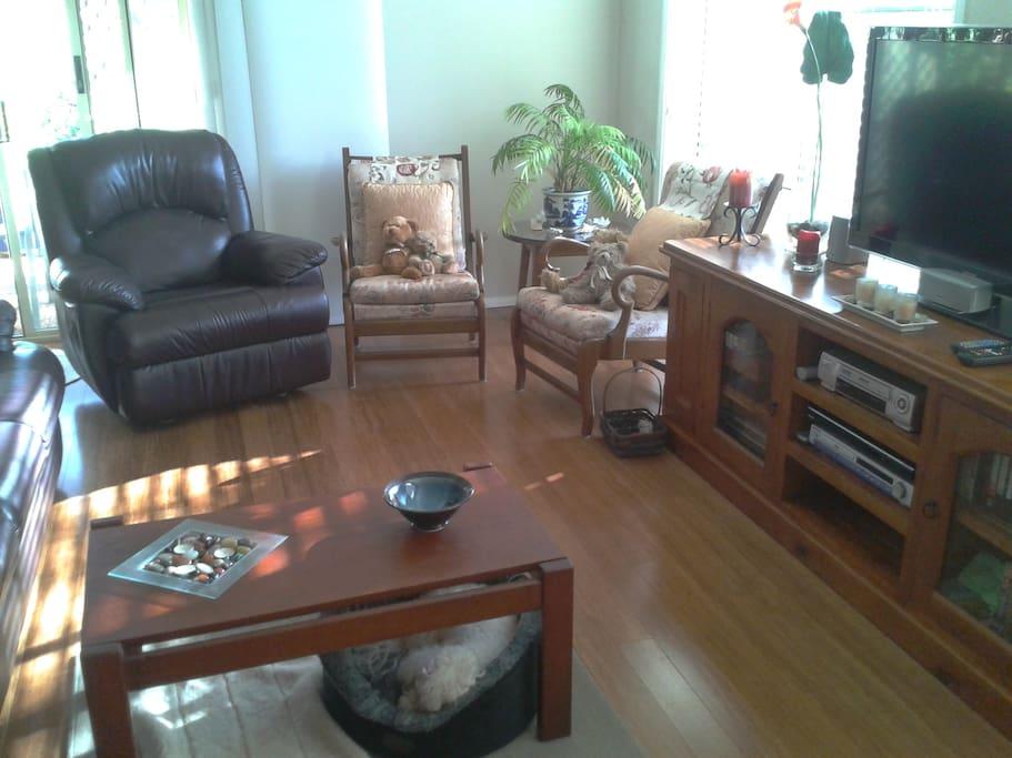 Enjoy the open-plan living area