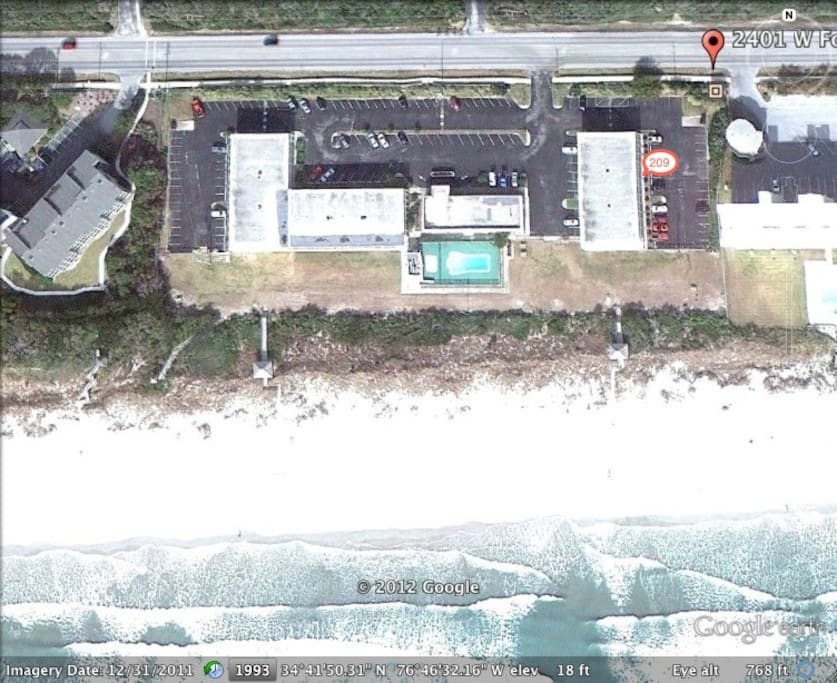 Oceanfront Complex!  Location of Unit within Complex!